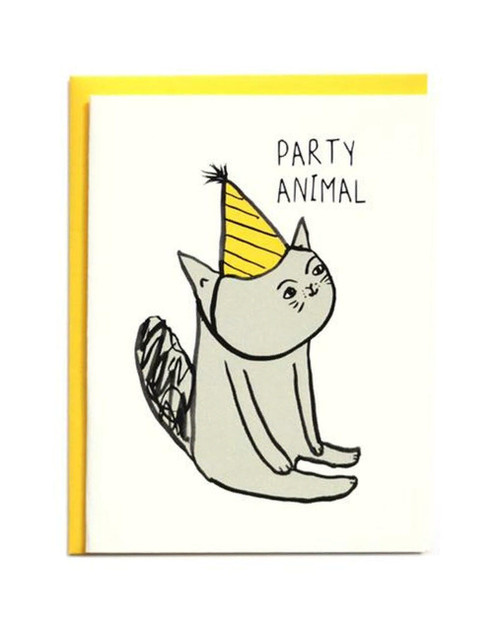 Party Animal Cat Card
