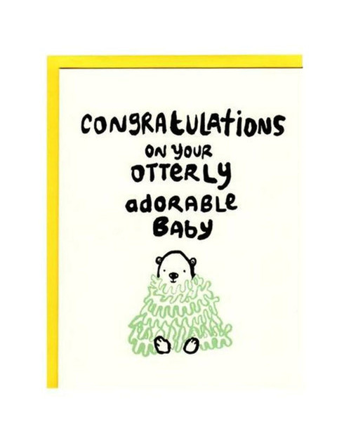 Otterly Adorable Baby Card