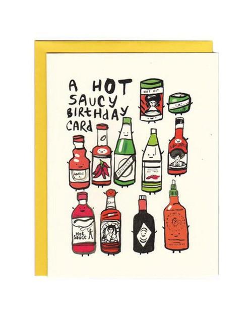 Hot Saucy Birthday Card