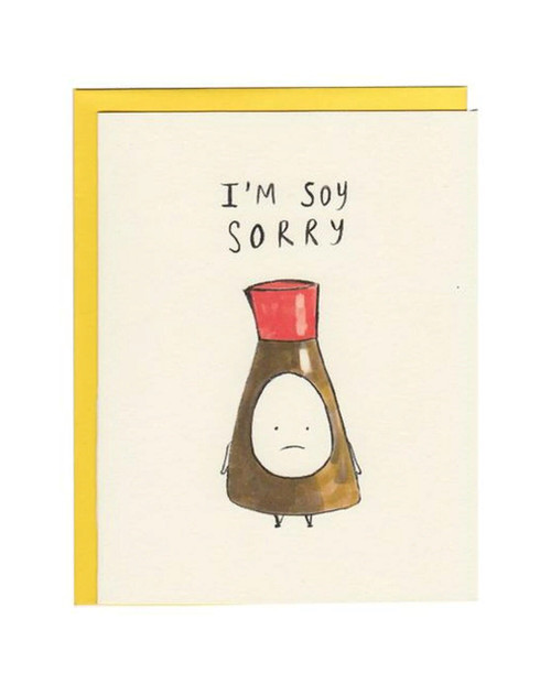 Soy Sorry Card