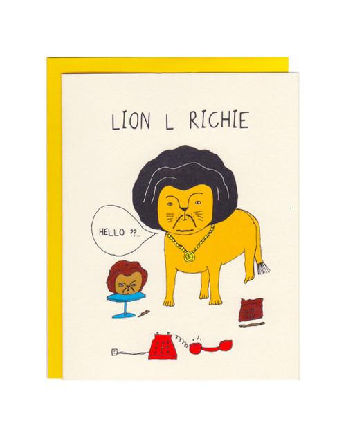 Lion L Richie Card