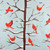 Gift Wrap - Winter Tree - Silver/Brown and White Red Metallic