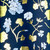 Winter Floral - Navy, White, Blue and Gold Foil