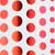 Polka Dots - White & Red foil