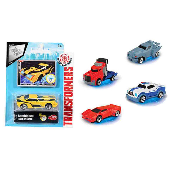 TRANSFORMERS LIGHT UP RACER 7CM ASSORTMENT