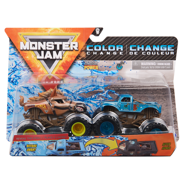 MONSTER JAM 1:64 2 PACKS (STYLES MAY VARY)