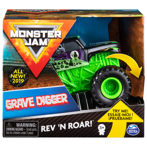 MONSTER JAM 1:43 REV & ROAR TRUCKS (STYLES MAY VARY)