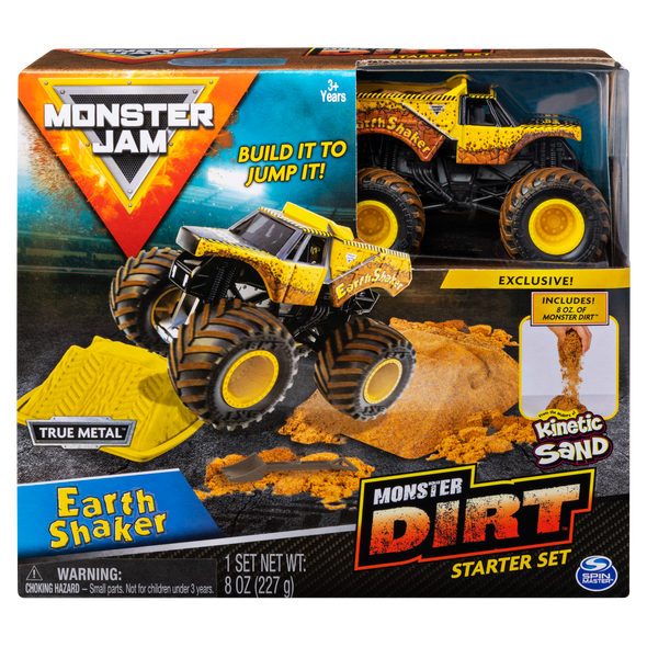 MONSTER JAM KINETIC DIRT STARTER SET (STYLES MAY VARY)