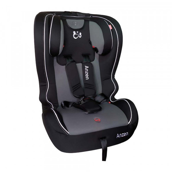 ANZEN COMPLETE CAR SEAT GROUP 1/2/3 - BLACK GREY
