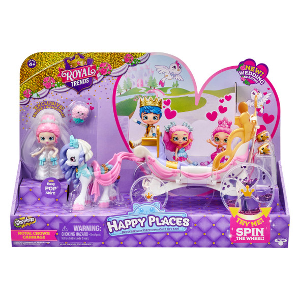 SHOPKINS HAPPY PLACES S8 ROYAL CROWN CARRIAGE