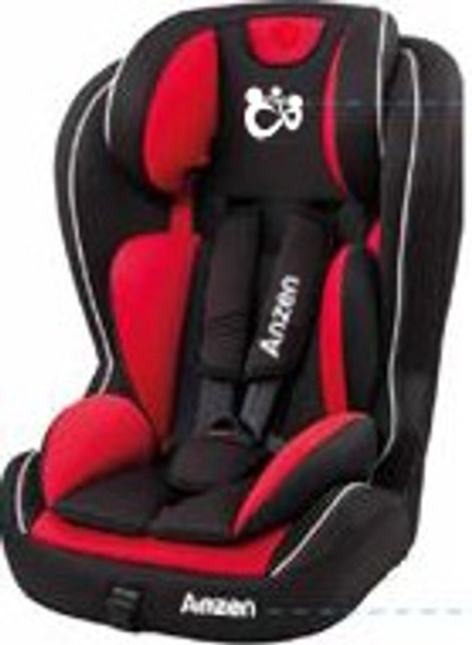 ANZEN COMPLETE CAR SEAT GROUP 1/2/3 - BLACK RED