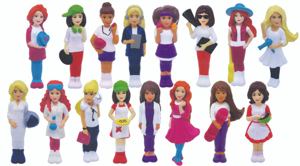 BARBIE 3D FIGURES IN 50MM CAPSULE - RANDOM ASSORTMENT
