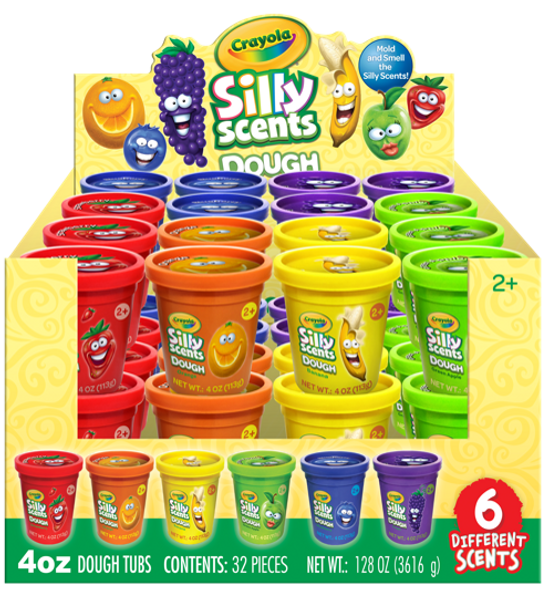 SILLY SCENTS 4OZ SCENT DOUGH (COLORS MAY VARY)