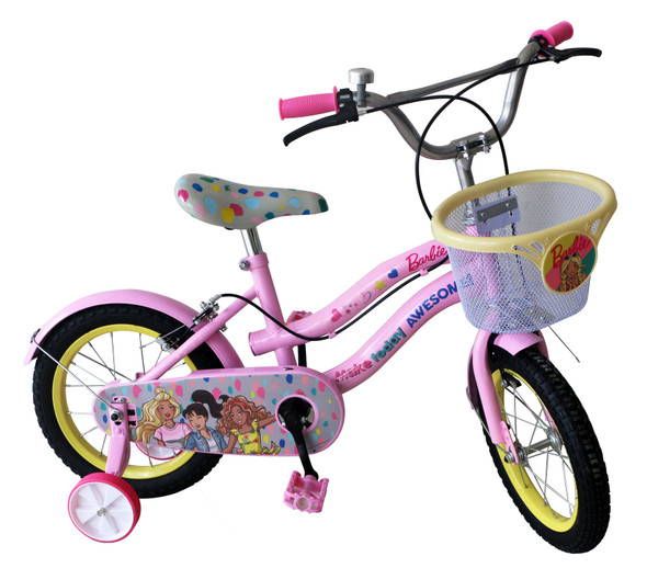 "BARBIE 14"" BIKE W/ BASKET"