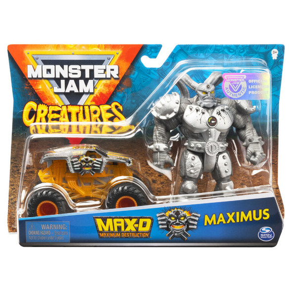 MONSTER JAM 1:64 CREATURE FIGURES (STYLES MAY VARY)