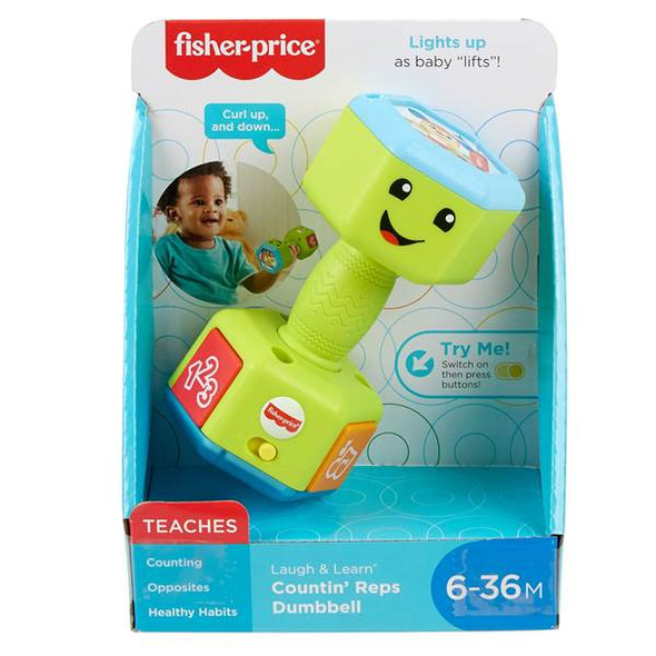 FISHER-PRICE LAUGH & LEARN DUMBBELLS