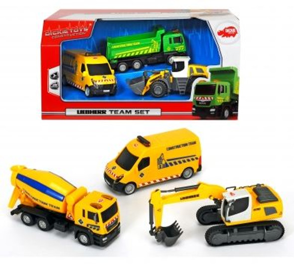 DICKIE TOYS LIEBHERR TEAM SET (STYLES MAY VARY)