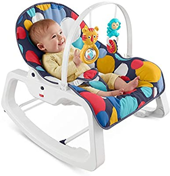 FISHER-PRICE INFANT-TO-TODDLER ROCKER (BUBBLE UP)