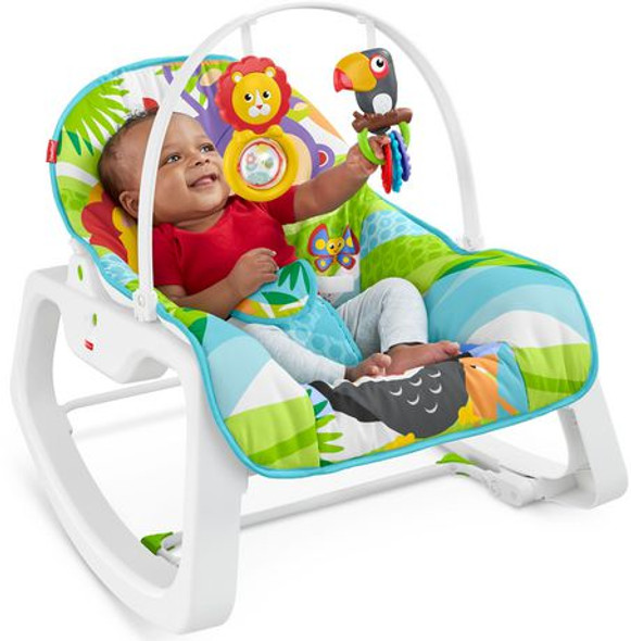 FISHER-PRICE INFANT-TO-TODDLER ROCKER (FOREST FUN)