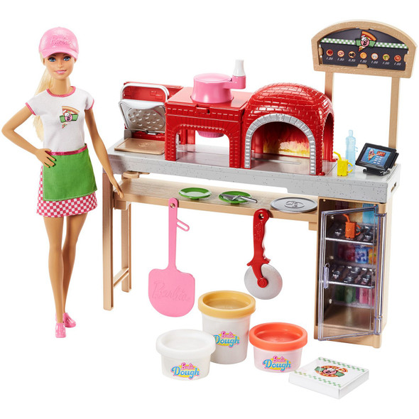 BARBIE PIZZA CHEF DOLL & PLAYSET