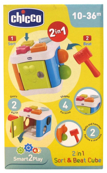 CHICCO 2 IN 1 SORT & BEAT CUBE