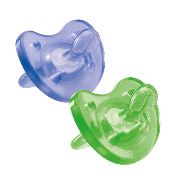 CHICCO SOFT SOOTHER  SIL 0-6M 1PC COLORED