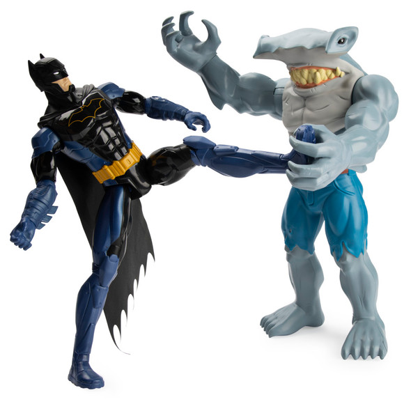 "BATMAN 12"" FIGURE - 2PK  - BATMAN VS. KING SHARK"