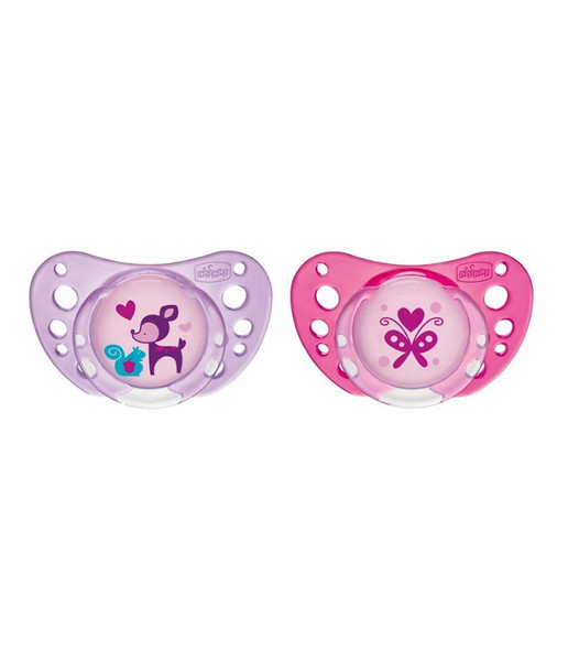CHICCO SOOTHER PHYSIO AIR PINK SIL 6-16M 2PCS