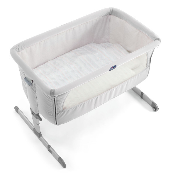 CHICCO NEXT-TO-ME CRIB, SILVER