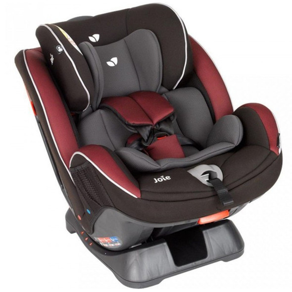 JOIE STAGES CAR SEAT (BURGUNDY CHARCOAL)