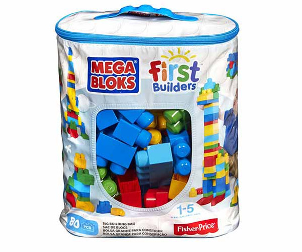 MEGA BLOKS BIG BUILDING BAG (80 PCS) (CLASSIC)