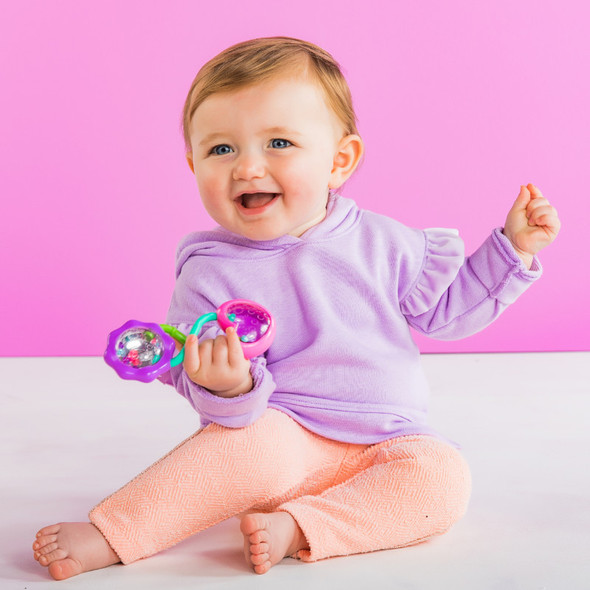 BRIGHT STARTS PRETTY IN PINK RATTLE/SHAKE BARBELL