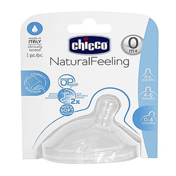 CHICCO NATURAL FEEL TEAT 0M+ REGULAR FLOW