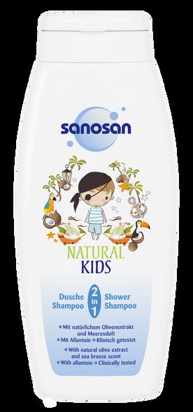SANOSAN NATURAL KIDS 2IN1 SHOWER & SHAMPOO 250ML
