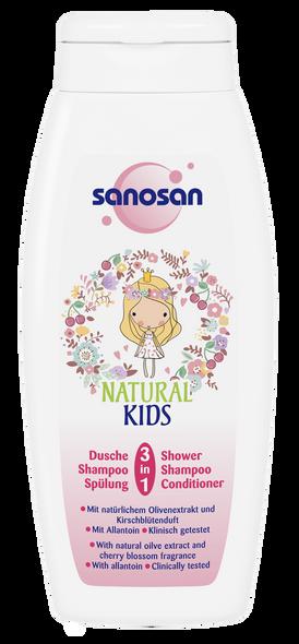 SANOSAN NATURAL KIDS 3-IN-1 SHOWER AND SHAMPOO 250ML