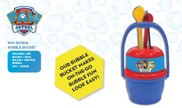 PAW PATROL BUBBLE BUCKET