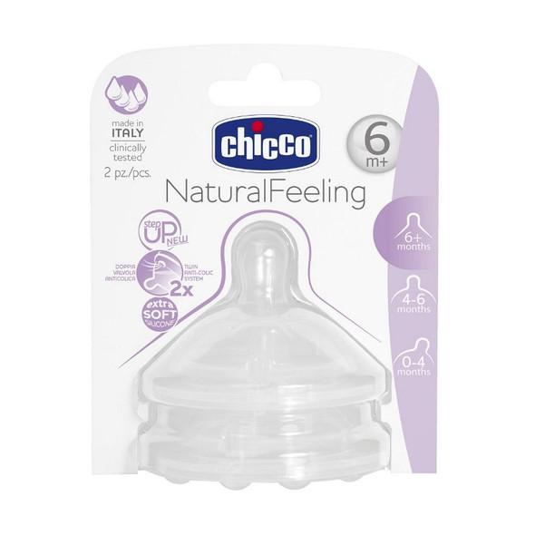 CHICCO TEAT NATURAL FEELING FOOD FLOW STEPUP TEAT 2PCS
