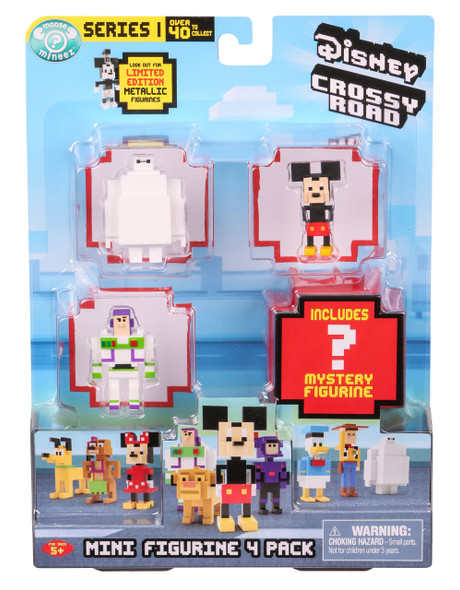 DISNEY CROSSY ROAD SEASON 1 MINI FIGURES 4-PACK