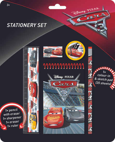 DISNEY STATIONERY SET CARS 3 (OB129)