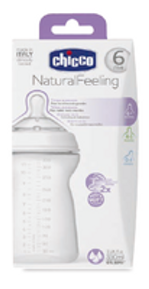 CHICCO NATURAL FEELING BOTTLE 6M+ 330 ML FAST FLOW