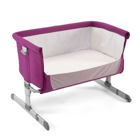 CHICCO NEXT TO ME BEDSIDE CRIB (FUSCHIA)