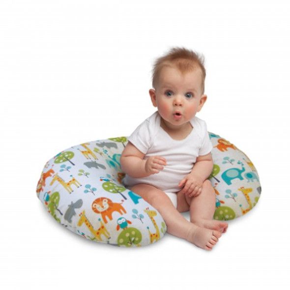 BOPPY PILLOW WITH SLIPCOVER (PEACEFUL JUNGLE)