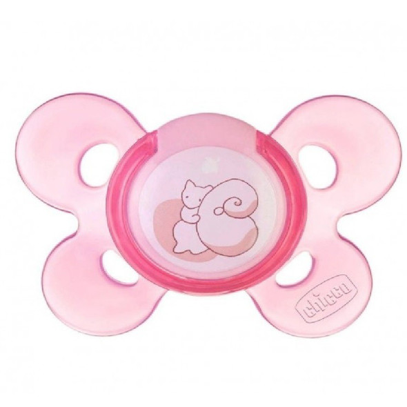 CHICCO GIOTTO PHYSIO COMFORT SOOTHER SILICONE WITH CASE 0-6M 1PIECE (PINK)