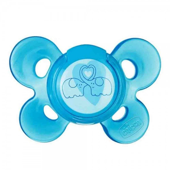 CHICCO GIOTTO PHYSIO COMFORT SOOTHER SILICONE WITH CASE 0-6M 1PIECE  BLUE