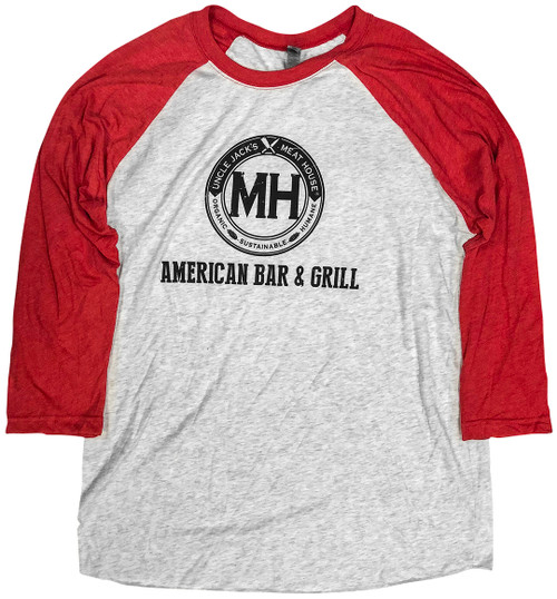 Baseball Red Long sleeve and Grey body