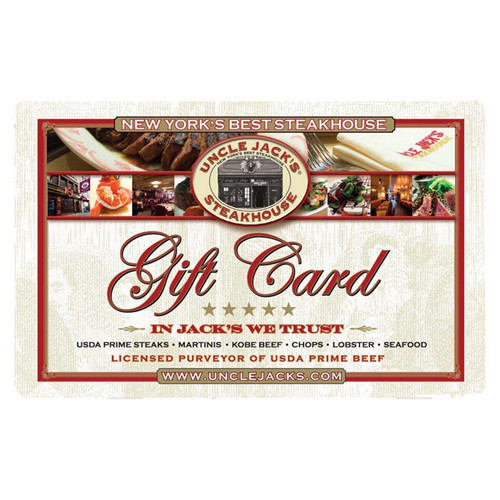 Buy $100 Gift Card Get $20 Free * STEAKHOUSE PROMO*