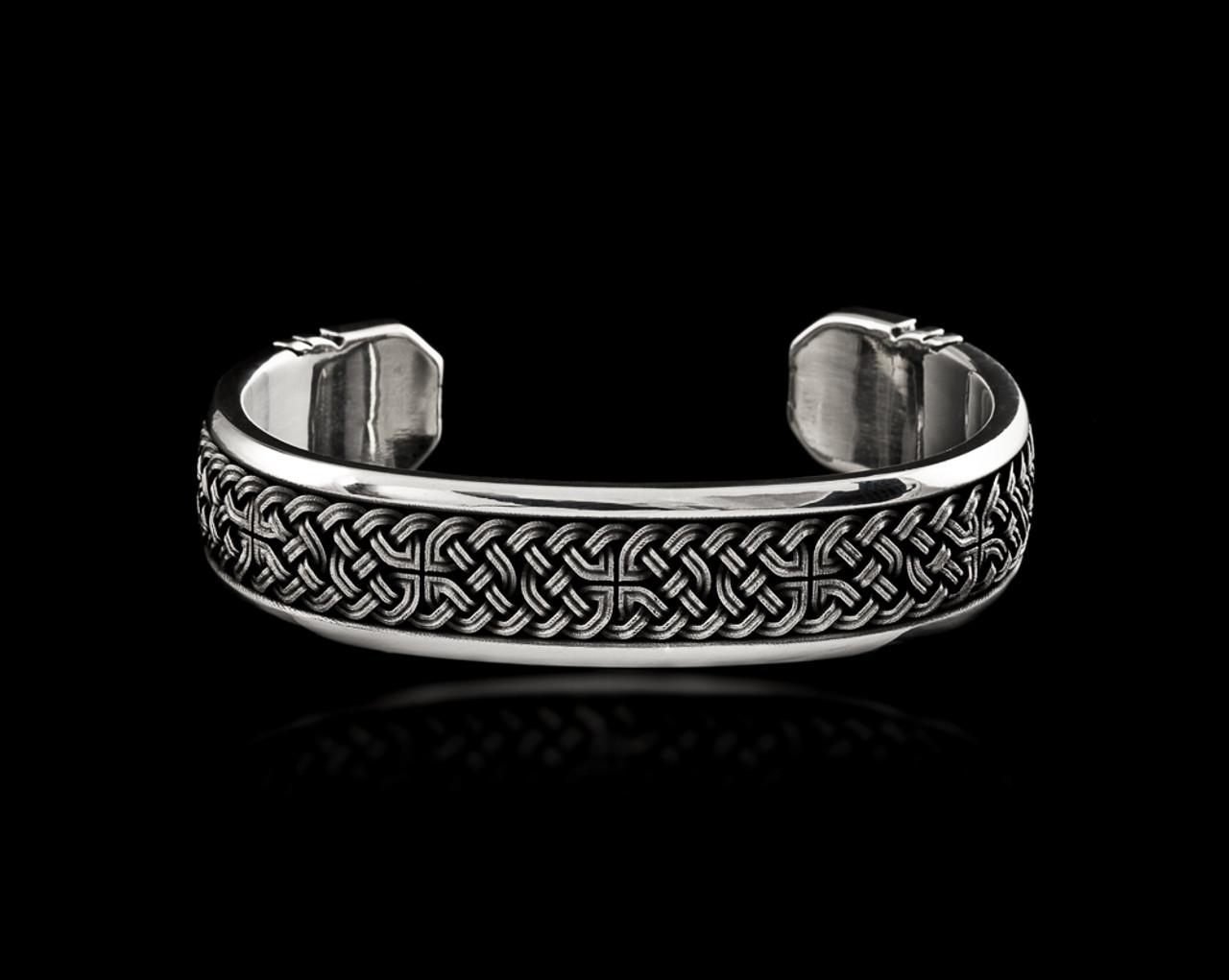 925 Sterling Silver Celtic Knot Silver Cuff Celtic Jewelry Celtic Cuff Bracelet Celtic Cuff