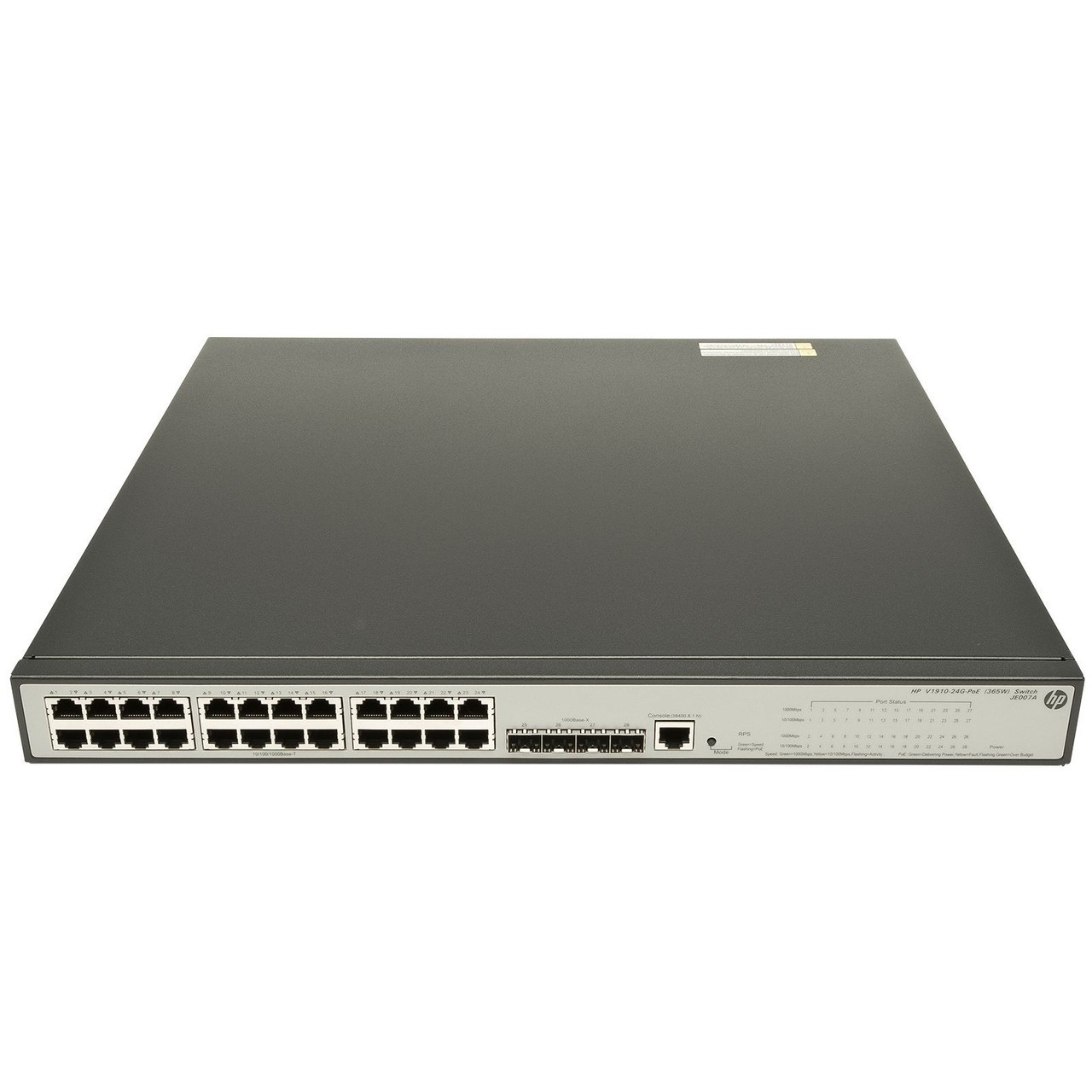 HP JE007A 1910 Series 1910-24G-PoE (365W) 24-Port Gigabit 4-Port SFP