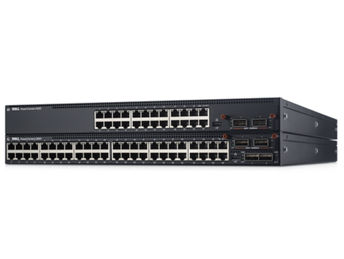 Dell 8164 PowerConnect 8100 Series 48-Port 10 Gigabit 2-Port 40GbE QSFP+ Switch