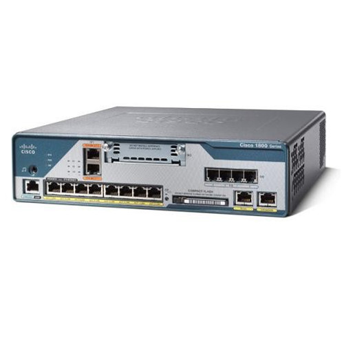 Cisco C1861-UC-4FXO-K9 1800 Series ISR 1861 8-User CME Voice Router w/Adapter